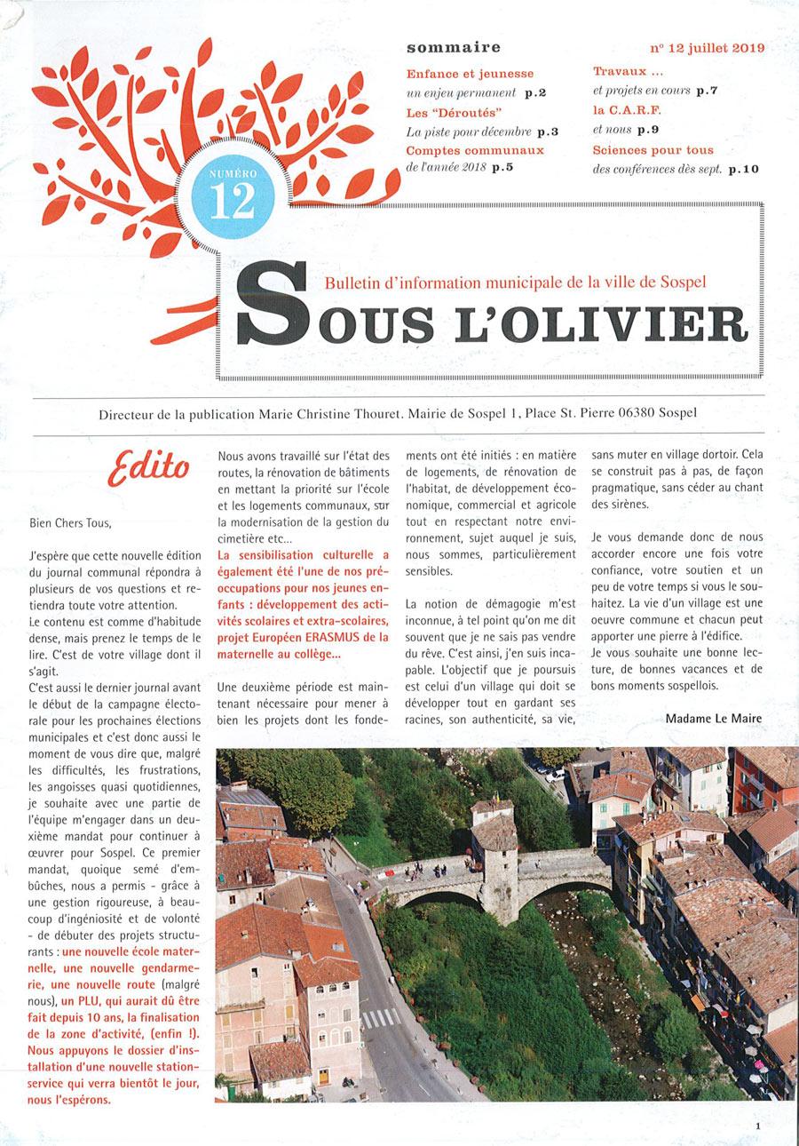 Magazine Municipal de Sospel 12/07/2019